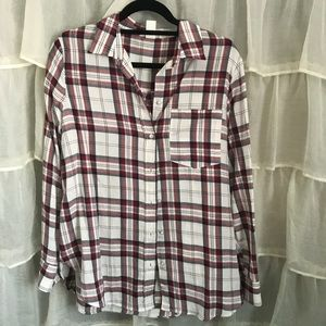 H&M Plaid Long Sleeve Shirt